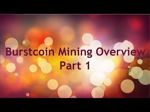 Burst Coin Mining Overview Part1
