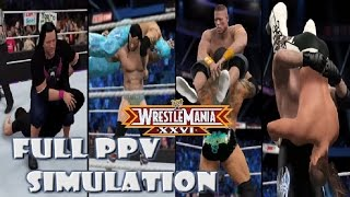 WWE 2K15 - 2K16 SIMULATION: Wrestlemania 26 Full Show Highlights