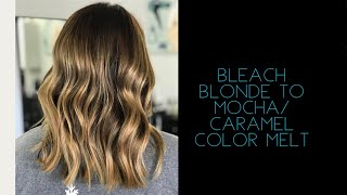 HOW TO GO FROM SUMMER BLONDE TO FALL MOCHA/CARAMEL COLOR MELT/2017