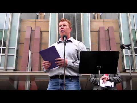 Matt Birk Speaks at the Minneapolis Stand Up Rally