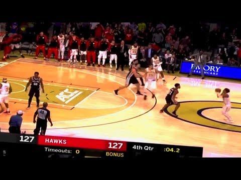 Trae Young WITH A CRAZY DEEP GAME WINNING 3!! 2018 NBA Preseason Atlanta Hawks vs San Antonio Spurs