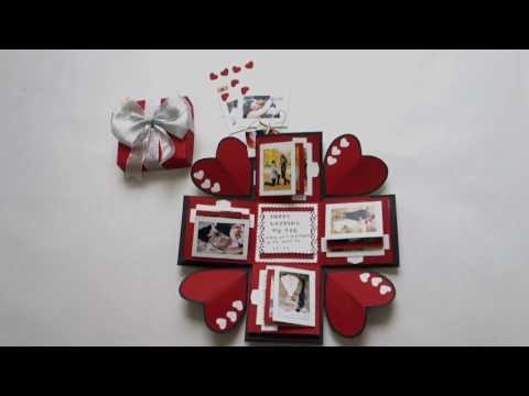 Love Explosion Box Photo Album – Perfect gift for Valentines/Anniversary/Birthday (100% Handmade)