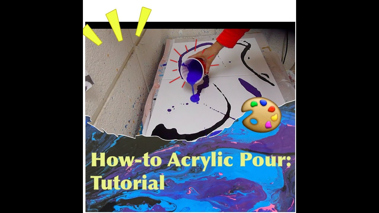Acrylic pour tutorial youtube for How to use acrylic paints