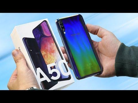 Распаковка Samsung Galaxy A50 за 19 990 рублей. Готовим сравнение с Honor 10i, Redmi Note 7 и A30!