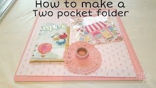How to make a two pocket folder for your planner!