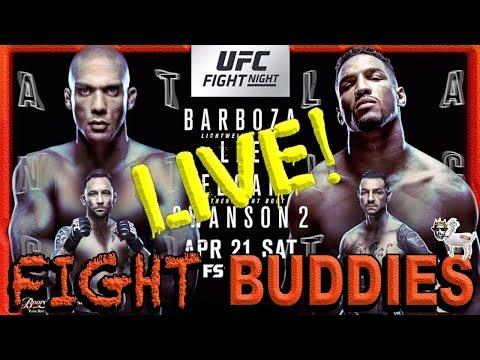 🔴UFC FIGHT NIGHT BARBOZA vs LEE / EDGAR vs SWANSON 2 LIVE REACTION STREAM