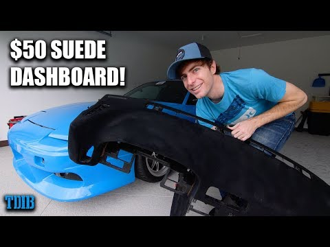 Flocking My 240SX Dashboard Into SUEDE!
