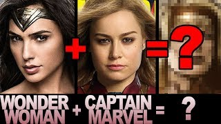 Mashing up WONDER WOMAN & CAPTAIN MARVEL!  Character Mashup Art Challenge!