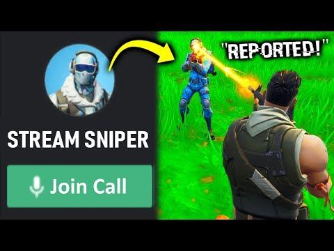 i stream SNIPED my stream sniper in fortnite..