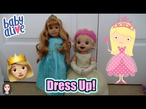 Baby Alive Emma Plays Dress Up! | Kelli Maple