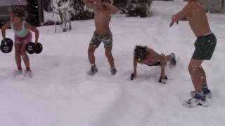 2017 Stroe family refresh in snow