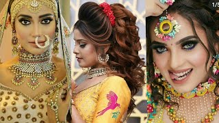 Most trending makeup collection,viral hairstyle and makeup pictures latest new bridal makeup hairsty