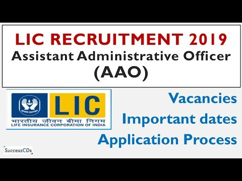 LIC AAO 2019 recruitment notification, dates, apply online