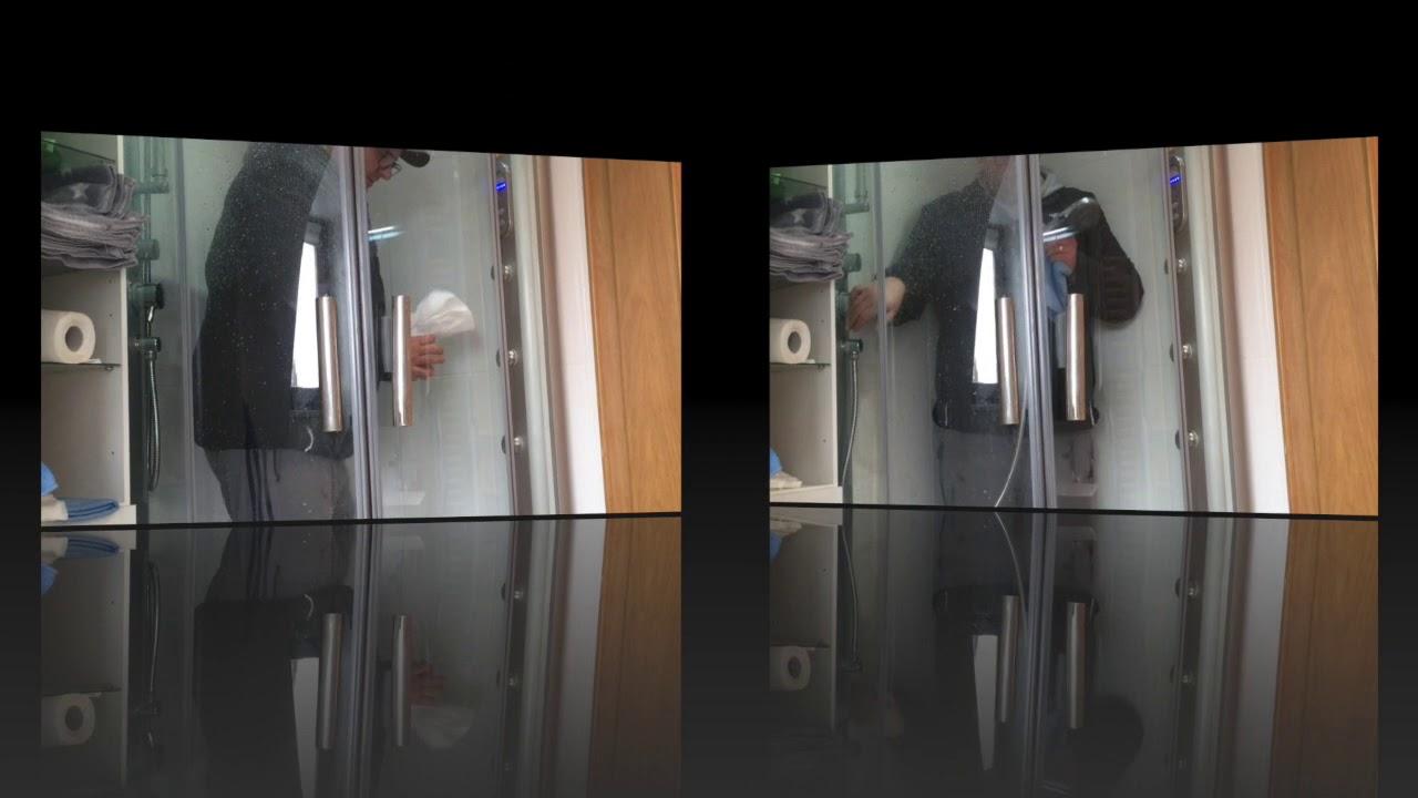 Anleitung Und Anwendungsvideo Nanoversiegelung Glasversiegelung Extrem Verkalkter Glas Dusche Youtube
