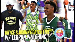LeBron James Watching Bryce Maximus CATCH FIRE!!  Bronny Jr Goes OFF at Balling On The Beach!