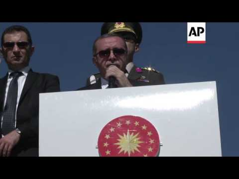 Erdogan says town of Kobani about to fall to Islamic State group