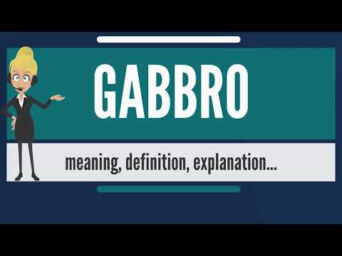 What is GABBRO? What does GABBRO mean? GABBRO meaning, definition & explanation