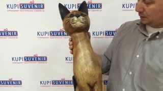 Статуэтка кошки из дерева