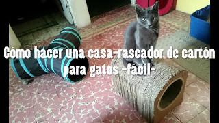 Cómo hacer una casa de cartón para gatos fácil