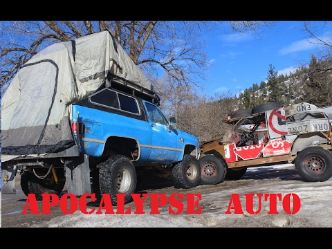Winter camping in a home made  roof top tent! APOCALYPSE AUTO ep.7
