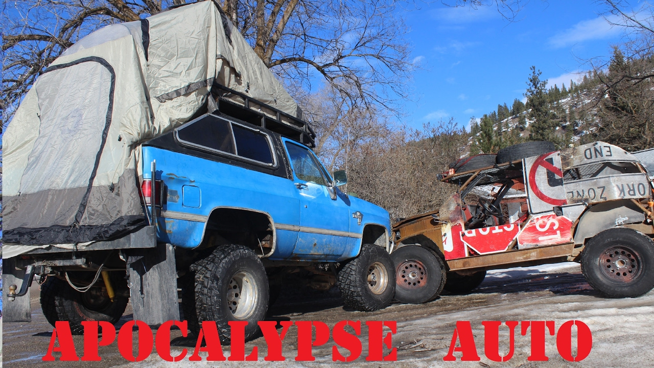 Winter Camping In A Home Made Roof Top Tent APOCALYPSE AUTO Ep7