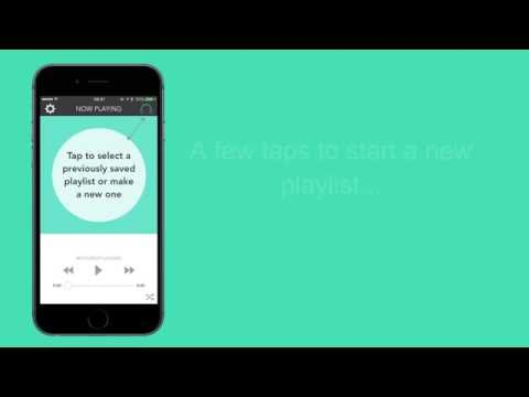 Easy Playlist - Free iPhone music playlist app - Watch it in action!