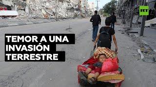 ONU: Miles de palestinos abandonan sus hogares en Gaza por temor a una invasión israelí