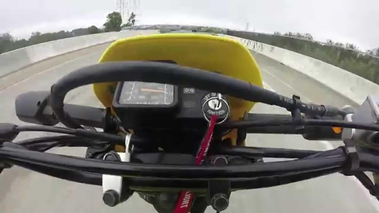 suzuki dr 200 top speed (70 mph) - youtube
