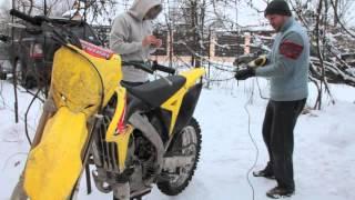 Как зашиповать резину кроссового мотоцикла