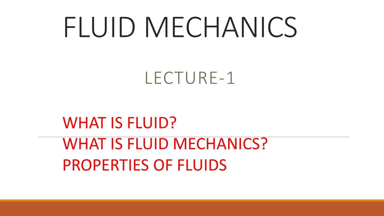 Definition of 'fluid mechanics'