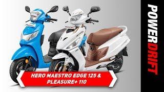 Hero Maestro Edge 125 FI and Pleasure+ 110 : First impressions : PowerDrift