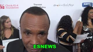 "Sugar Ray Leonard Talks Manny Pacquiao ""I Was Shocked How Good He Looked"" EsNews Boxing"