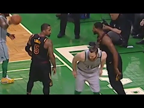 JR Smith Stares Down Aron Baynes After Dunking on Him!