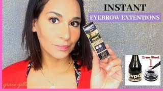 EYEBROW EXTENTION GEL?!   INSTANT EYEBROWS   BEAUTY   VIRAL   2019