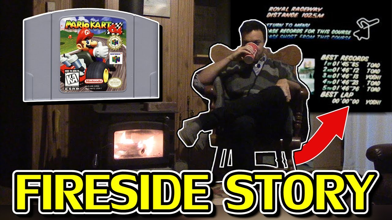 """The 1998 Mario Kart """"Zero Second"""" Timer Glitch   a Fireside Story (for relaxation & comfy moods)"""