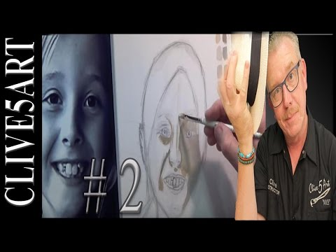 Flesh Tones #2, Acrylic painting for beginners, step by step lesson, in the #clive5art,