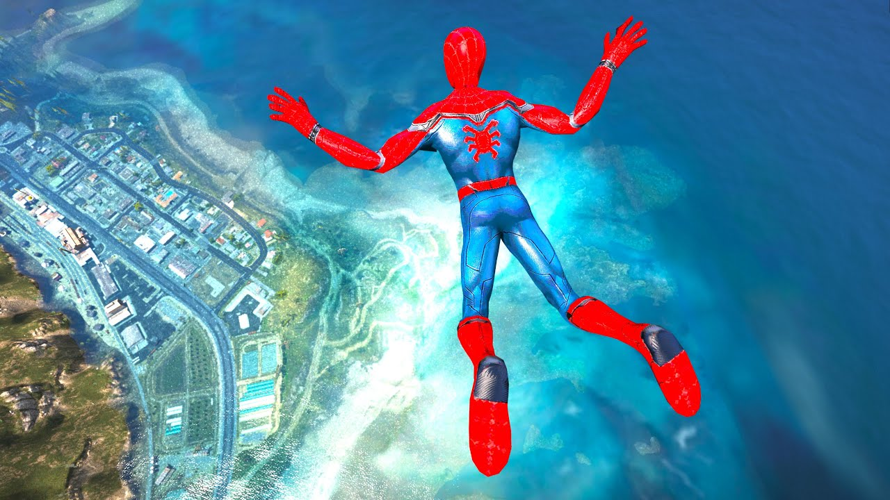 GTA 5 Water Ragdolls | SPIDERMAN Jumps/Fails vol.17 (Funny Moments | Euphoria physics)