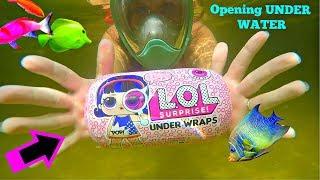 Opening LOL surprise dolls UNDERWATER - LOL surprise under wraps series 4 big sisters