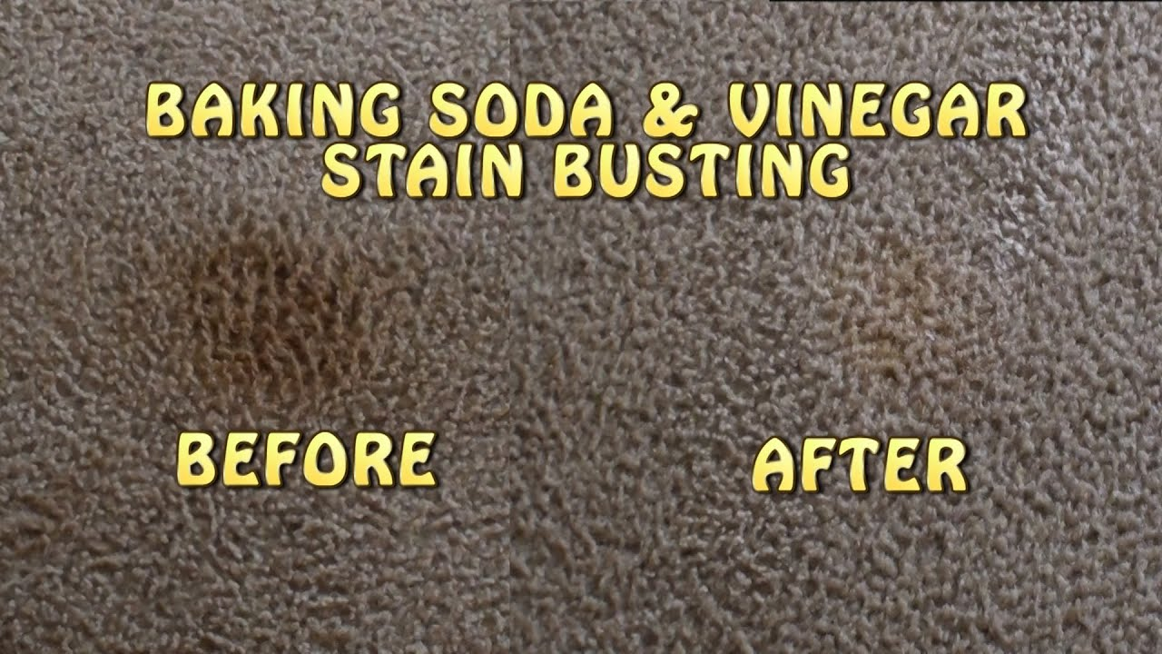 Baking Soda & Vinegar Carpet Stain Busting!!! - YouTube