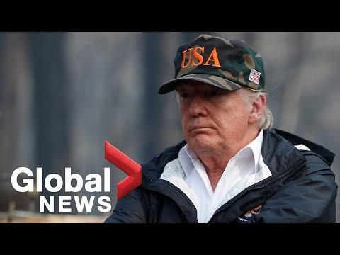 California wildfires: President Trump surveys areas affected with Jerry Brown and Gavin Newsom
