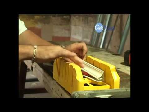 Pasos para la instalaci n de la tablilla pvc cielo plast for Celosias de pvc para jardin
