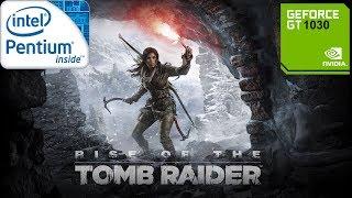 "Rise The Tomb Raider / Pentium G3220 - Asus GT1030 ""DirectX11"" vs ""DirectX12"" 1080p"