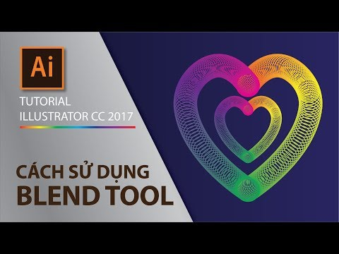 Tutorial illustrator CC-part 2.4 - How to use Blend Tool (cách sử dụng Blend Tool) thumbnail