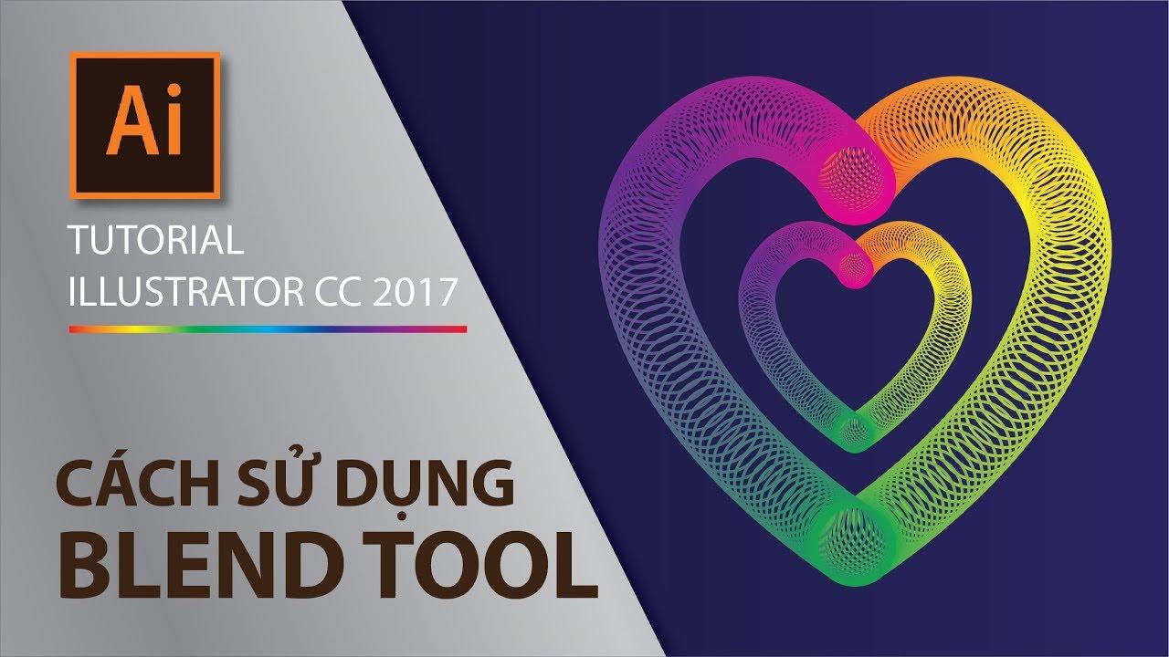 Illustrator Part 2.4 - Cách sử dụng công cụ Blend Tool (How to use Blend Tool)