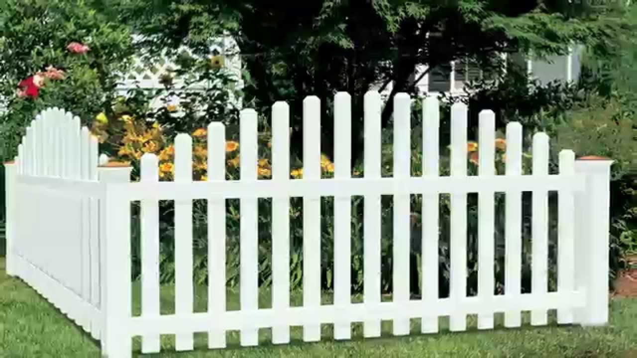 Amarroso Yorktown Dog Ear Arched Spaced Picket Fence Youtube