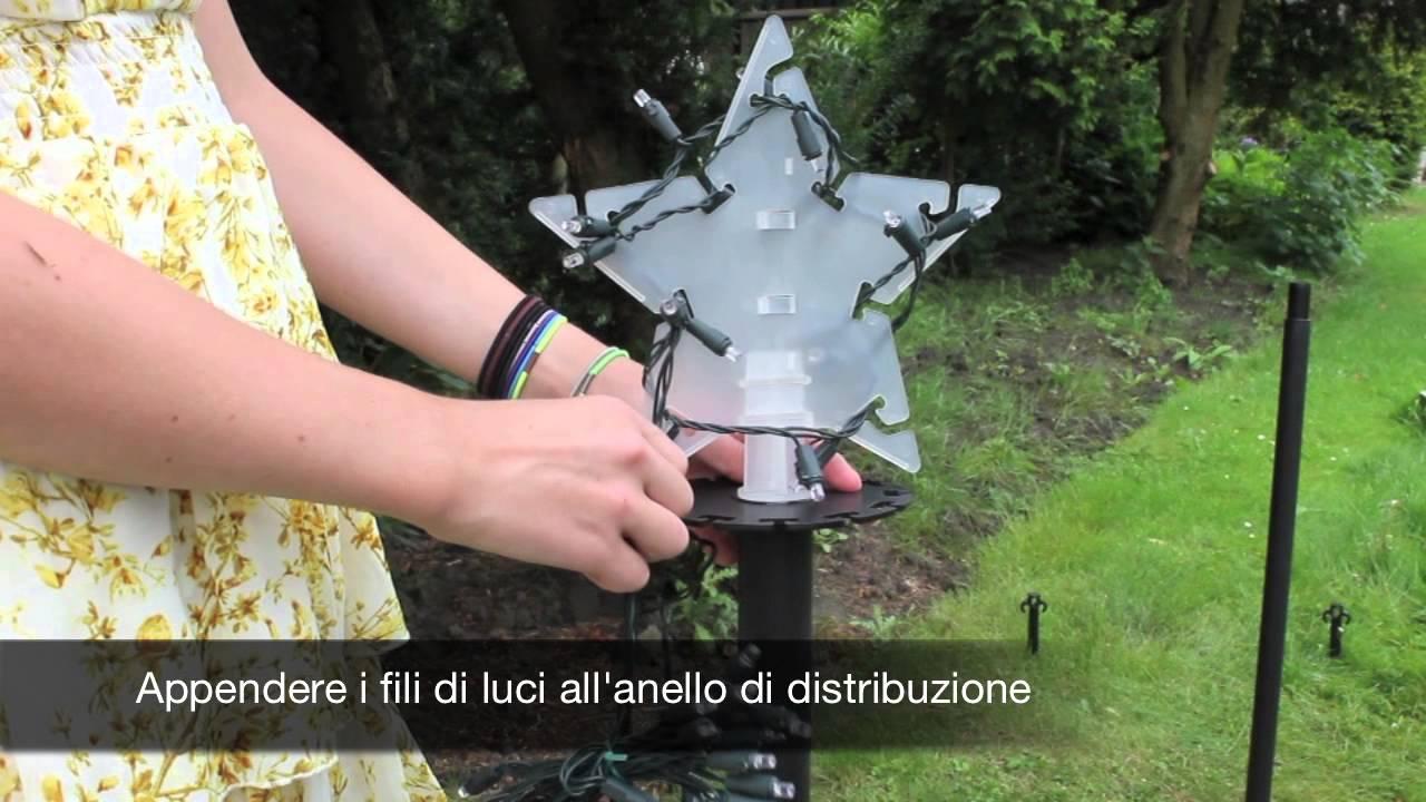 Illuminazione Esterna Natale : Albero di natale da esterno con led youtube