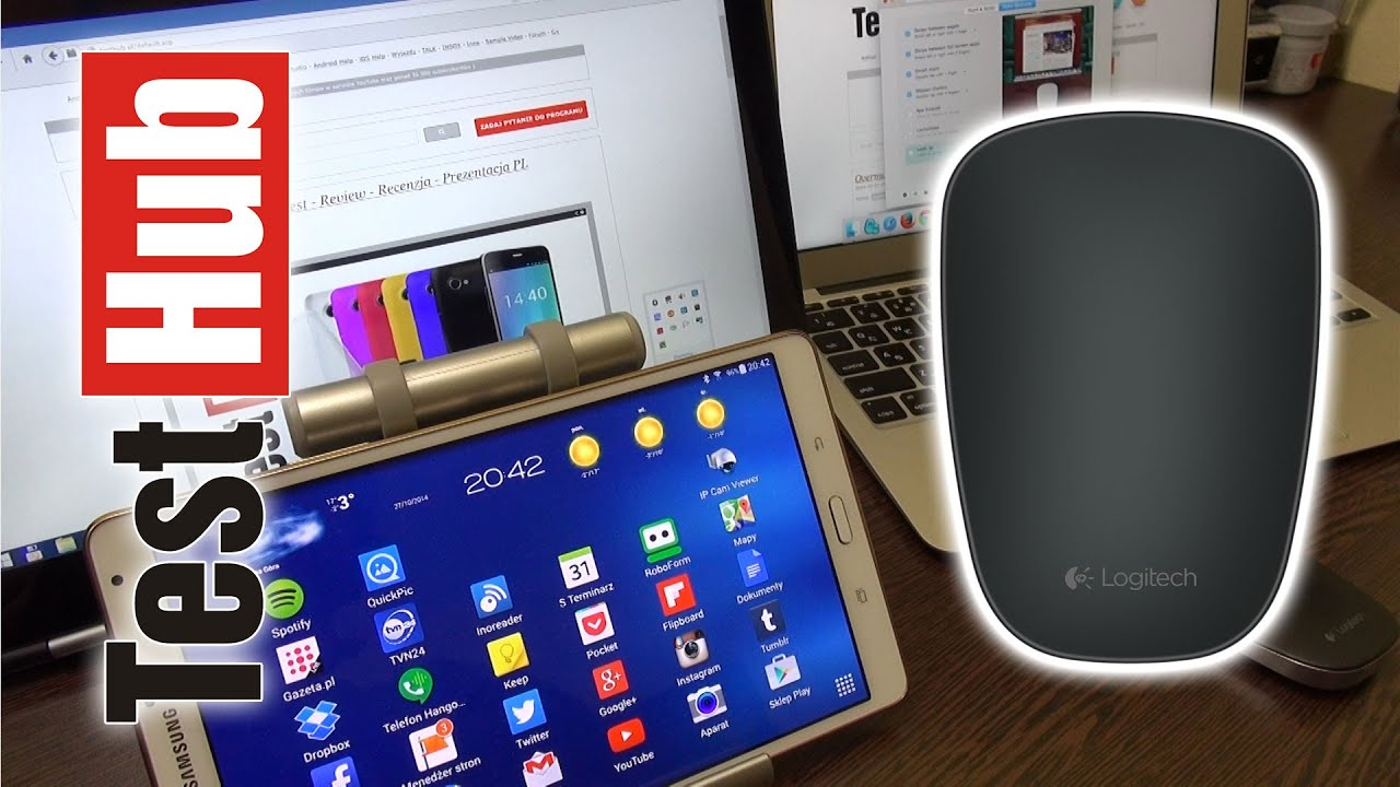 72091b9789c Logitech Ultrathin Touch Bluetooth Mouse T630 for Windows and Mac OS X -  mała mysz do ultrabooka
