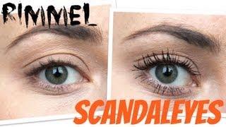 Test Rimmel Scandaleyes Volume Flash Mascara Youtube