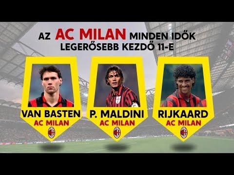 Az AC Milan minden idők legerősebb kezdő 11-e! | Maldini, Kaká és sokan mások!