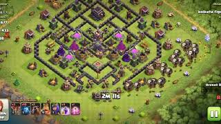 *clash of clans* th9 full attach 3***. With baloons only.